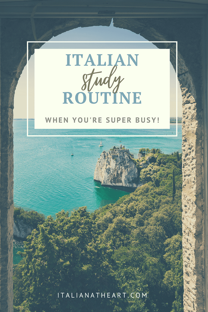 Italian Study Routine  for when You're Super Busy