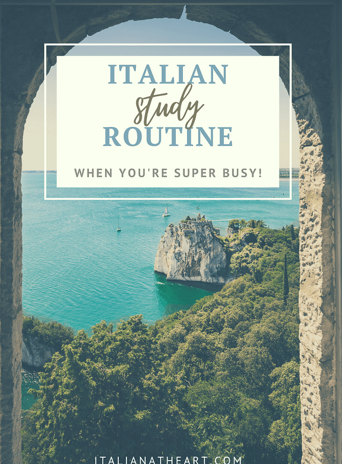 How to learn Italian when You're Busy